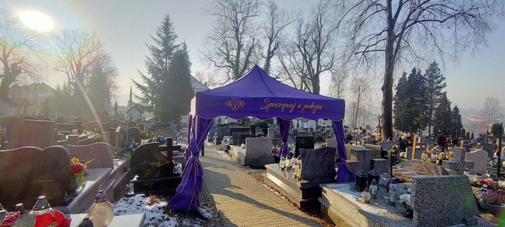 Namiot pogrzebowy Firma Pogrzebowa KIR.